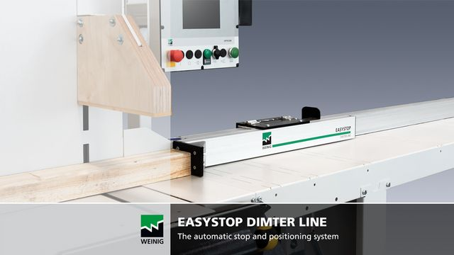 Easystop positioning system with OptiCut C 50 undertable cross-cut saw in Vimeo Video