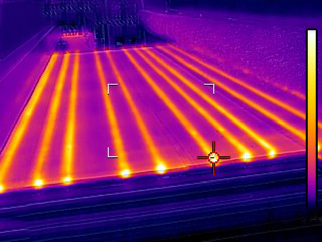 Picture of a heating camera